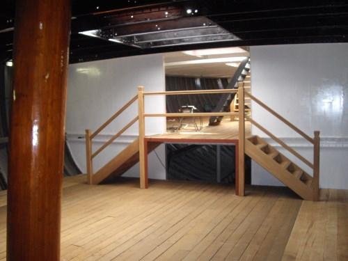 De trappen zijn gemaakt door Peter Glim van Aannemersbedrijf Dozy