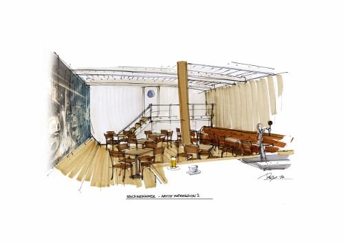De machinekamer als ruimte voor vergaderingen en seminars.